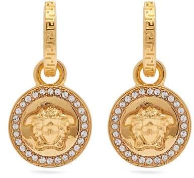 Versace Medusa Charm Pendant Earrings - Womens - Gold