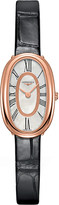 Longines L2.305.8.81.0 Symphonette 18ct pink gold and alligator leather watch