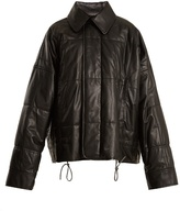 Haider Ackermann Drawstring-hem quilted-leather jacket