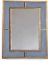 The Well Appointed House Bedford Gold Marine Blue Mirror