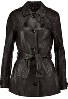 J Brand Arrow Leather Trench Coat