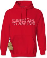 Expression Tees Hoodie It's A Beautiful Day To Save Lives Adult