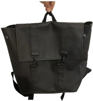 Rains Black Synthetic Backpacks