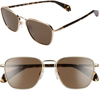 Rag & Bone 54mm Polarized Navigator Sunglasses