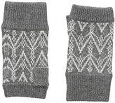 Sofia Cashmere Women's 100 Percent Cashmere Fairisle Fingerless Gloves