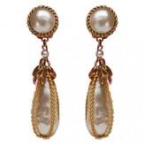 Chanel Baroque White Metal Earrings