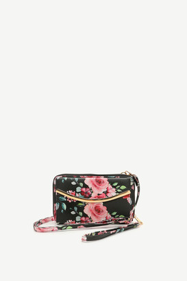 Ardene Floral Clutch Crossbody Wallet