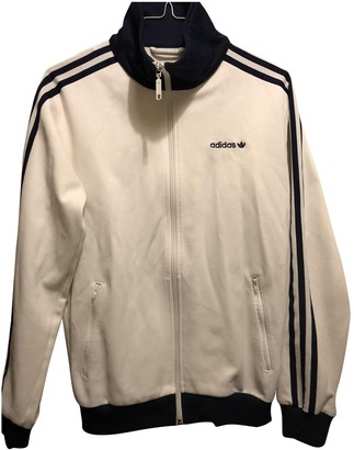 adidas White Cotton Jackets