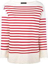 Dolce & Gabbana striped sweatshirt - women - Cotton/Polyamide - 38