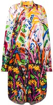 Marni garden print shirt dress