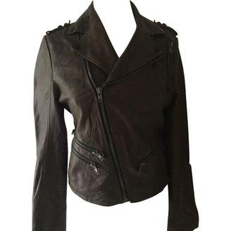 Factory Brooklyn Bridge Camel Leather Leather Jacket for Women