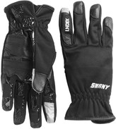 Swany Co. I-Finger Gloves - Leather Palm, Touchscreen Compatible (For Women)