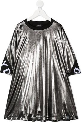 DKNY Metallic Logo Band Dress