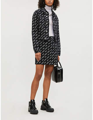 Calvin Klein Logo-print stretch-denim jacket