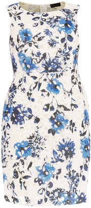 Studio 8 Rochelle Floral Print Lace Dress, Blue/Multi