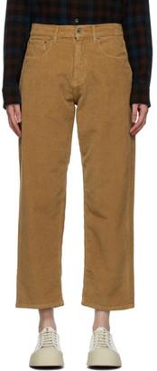 6397 Tan Corduroy Skater Jeans