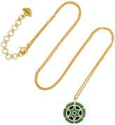 Amrapali 18-karat Gold Enamel Necklace