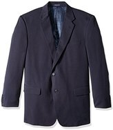 Adolfo Men's Portly Herringbone Micro Tech Sport Jacket