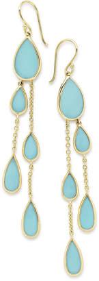 Ippolita 18K Polished Rock Candy Multi-Pear 2-Chain Drop Earrings in Turquoise