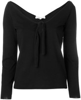 Romeo Gigli Pre Owned open neck tied blouse