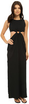 Michael Kors Draped Solids Open Back Cover-Up Dress
