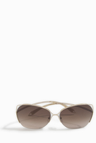 Victoria Beckham Fine Wave White Gold Sunglasses