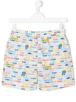 Fendi worded swim shorts