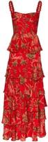 Johanna Ortiz Life Goals tiered floral-print cotton maxi dress