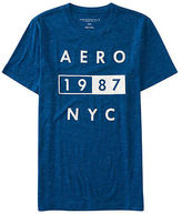 Aeropostale Mens Aero 1987 Nyc Logo Graphic T Shirt