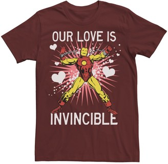 Iron Man Men's Marvel Our Love Is Invincible Tee