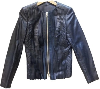BOSS Black Leather Jackets