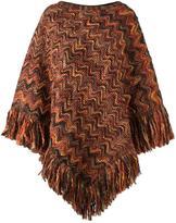 Missoni fringed knit poncho