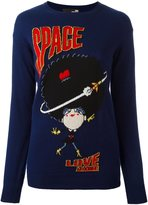 Love Moschino space intarsia jumper