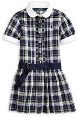Ralph Lauren Childrenswear Little Girl's Plaid Cotton Madras Shirtdress