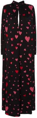 Racil Barbara Heart Print Maxi Dress