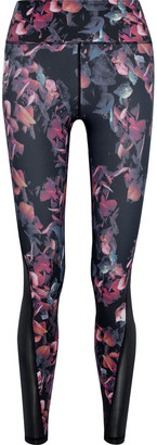 Iris & Ink Paneled Floral-print Stretch Leggings