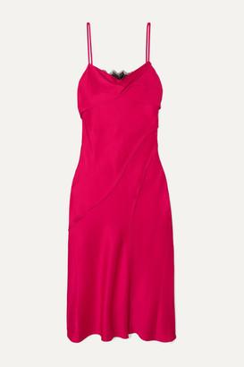 Jason Wu Collection Lace-paneled Satin Midi Dress - Pastel pink