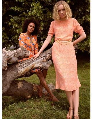 Primrose Park Betty Orange Leopard Dress - X Small