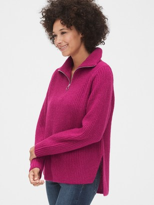 Gap Shaker Stitch Half-Zip Sweater