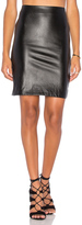 Bishop + Young Vegan Leather Pencil Skirt