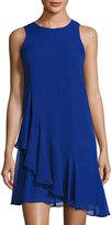Eliza J Ruffled Sleeveless Dress, Cobalt