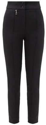 Moncler High-rise Stretch Technical-gabardine Trousers - Black