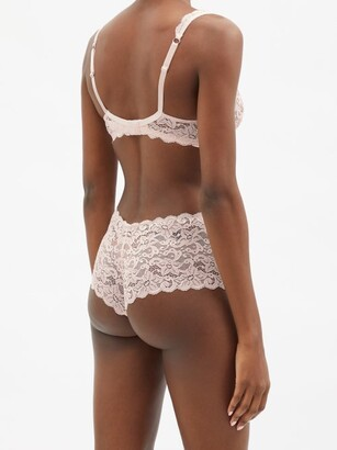 Hanro Moments Mid-rise Lace Briefs - Light Pink