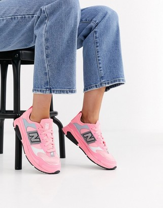 New Balance X-Racer trainers in neon pink