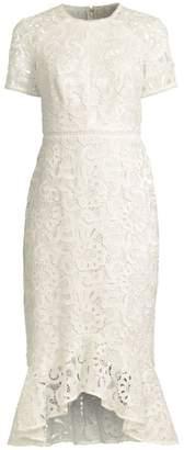 Shoshanna Edgecombe Crocheted Lace Midi Dress