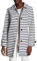 Tommy Hilfiger Striped Button Detail Coat