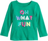 Baby Girl Jumping Beans Long Sleeve Holiday Graphic Tee