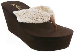 Rocket Dog Women's Sandals Natural - Natural Crochet Dock Platform Sandal - Women