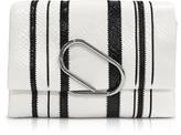 3.1 Phillip Lim Black & White Alix Soft Flap Clutch