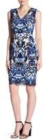 Alexia Admor Sleeveless Crochet Lace Knit Front Dress